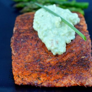 Blackened Salmon with Avocado Cream
