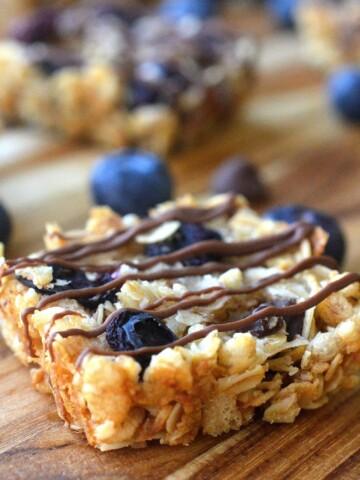 Chocolate Chip and Blueberry Granola Bites