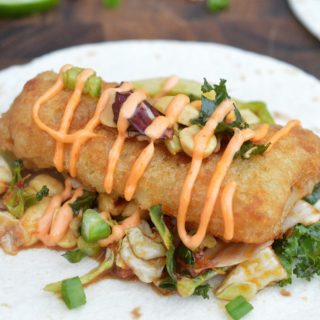 Crispy Fish Tacos with Asian Slaw and Sriracha Mayo - THIS is how it should be done!