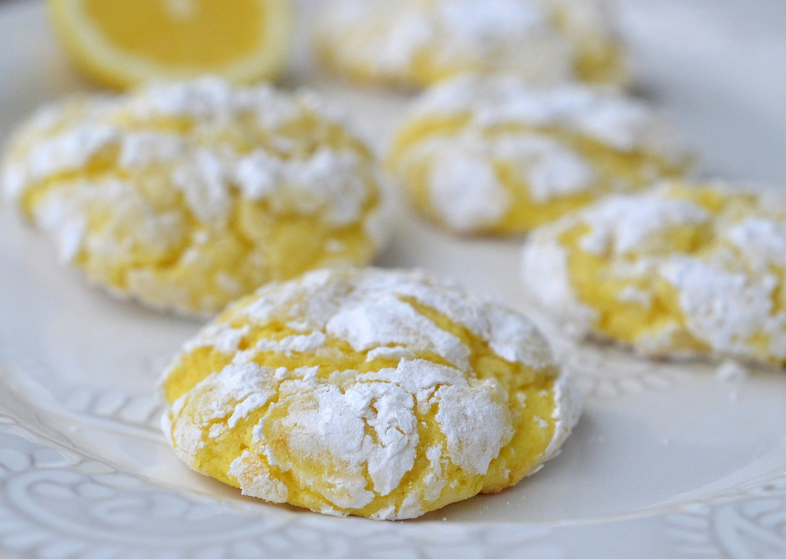 Easy Lemon Crinkle Cookies, perfect for Spring and Easter