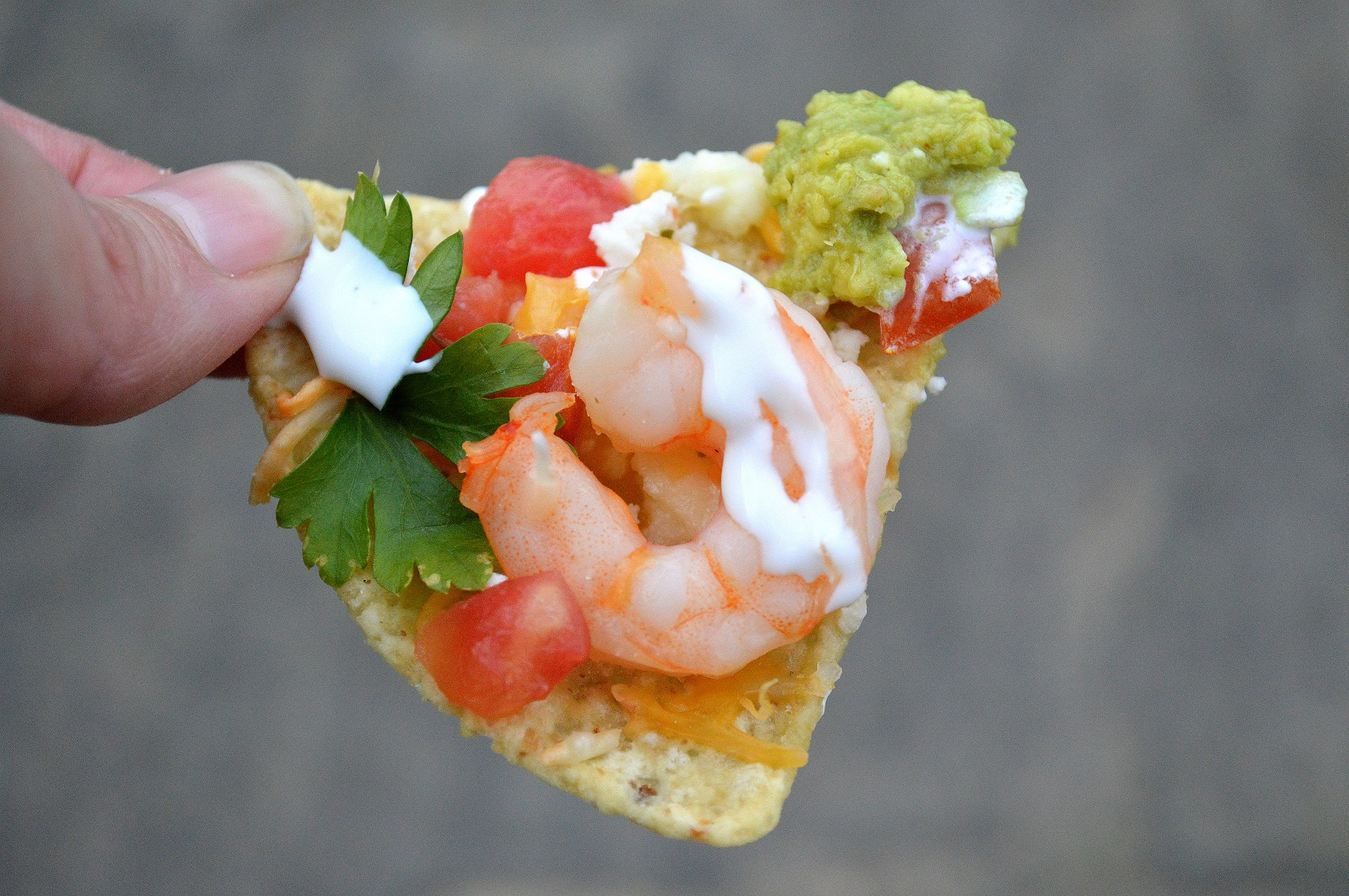 Shrimp Nachos! Why go out when you can EASILY make these at home??