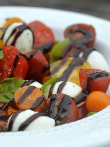 Liven up your Caprese Salad with colorful artisan or heirloom tomatoes