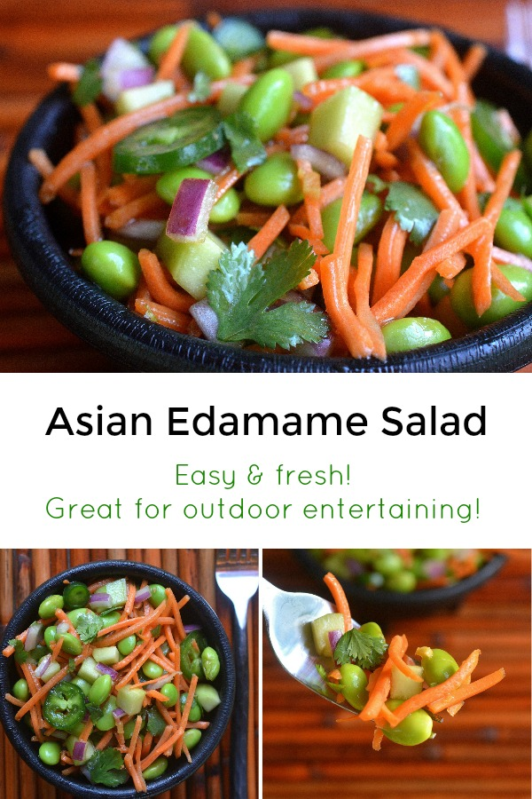Asian Edamame Salad, so good and easy to make!