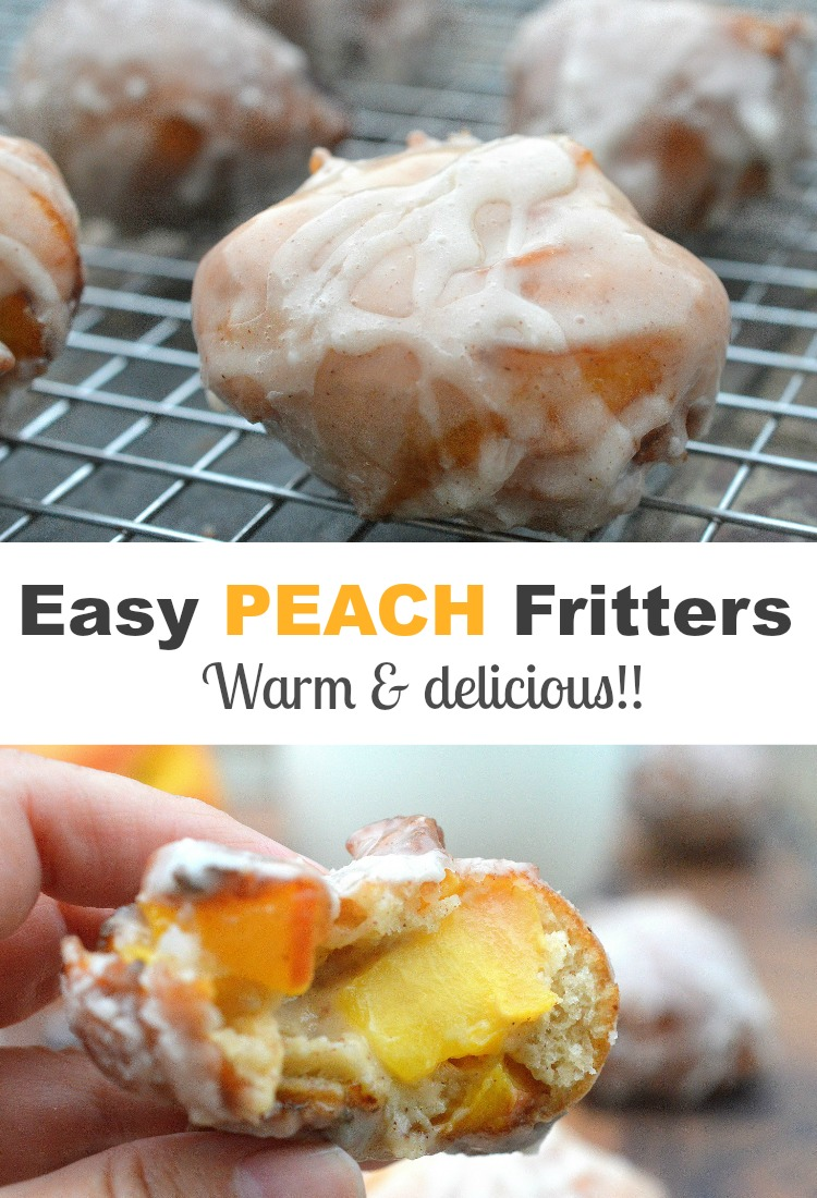 Easy Peach Fritter Recipe - Quick to make and delicious to eat!