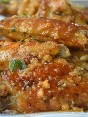 Crispy Baked Parmesan Garlic Wings