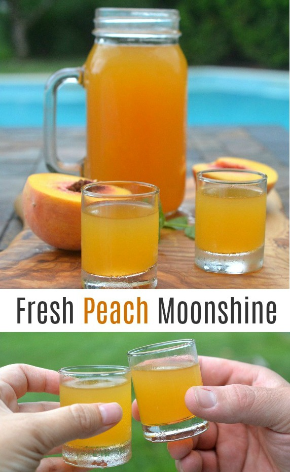 Easy to make...Fresh Peach Moonshine