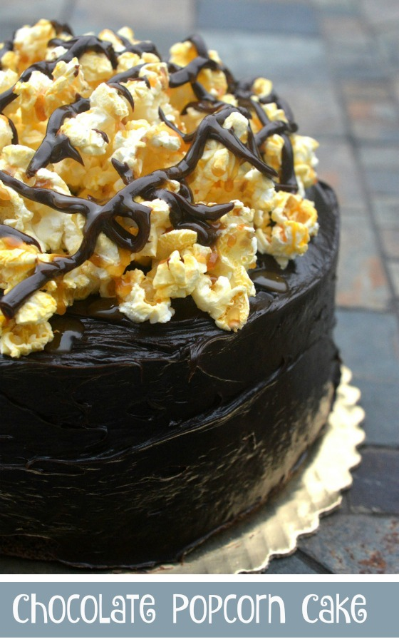 Chocolate Popcorn Cake - Fun and delicious!