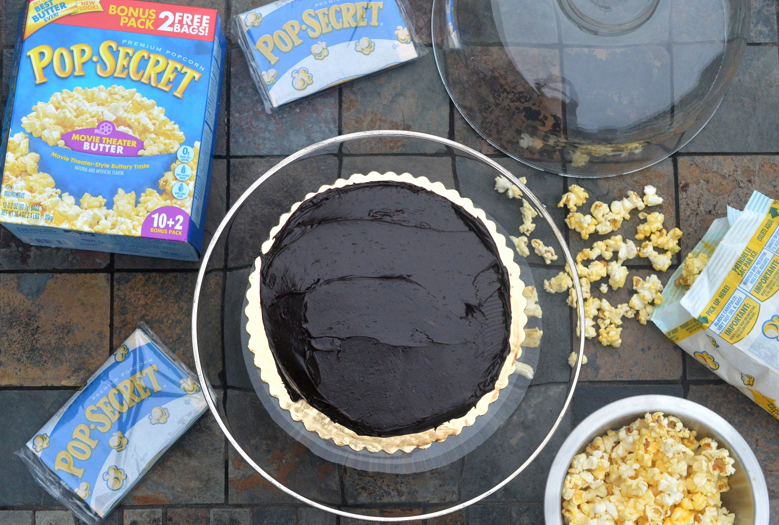 Chocolate Popcorn Cake made with Pop Secret Popcorn