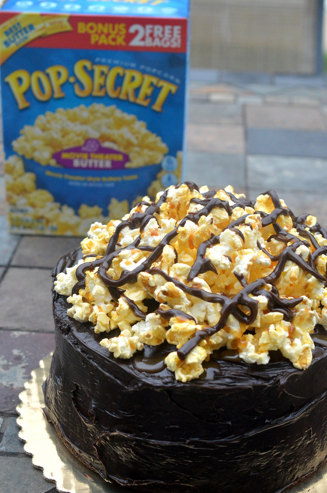 Chocolate Popcorn Cake - A childhood memory