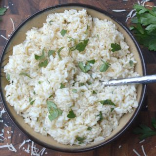 Easy Garlic Parmesan Rice Recipe