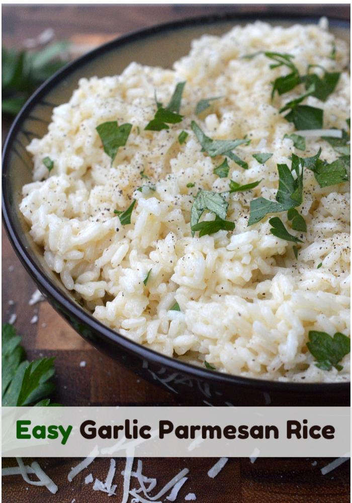Easy Garlic Parmesan Rice....Cheesy & delicious!