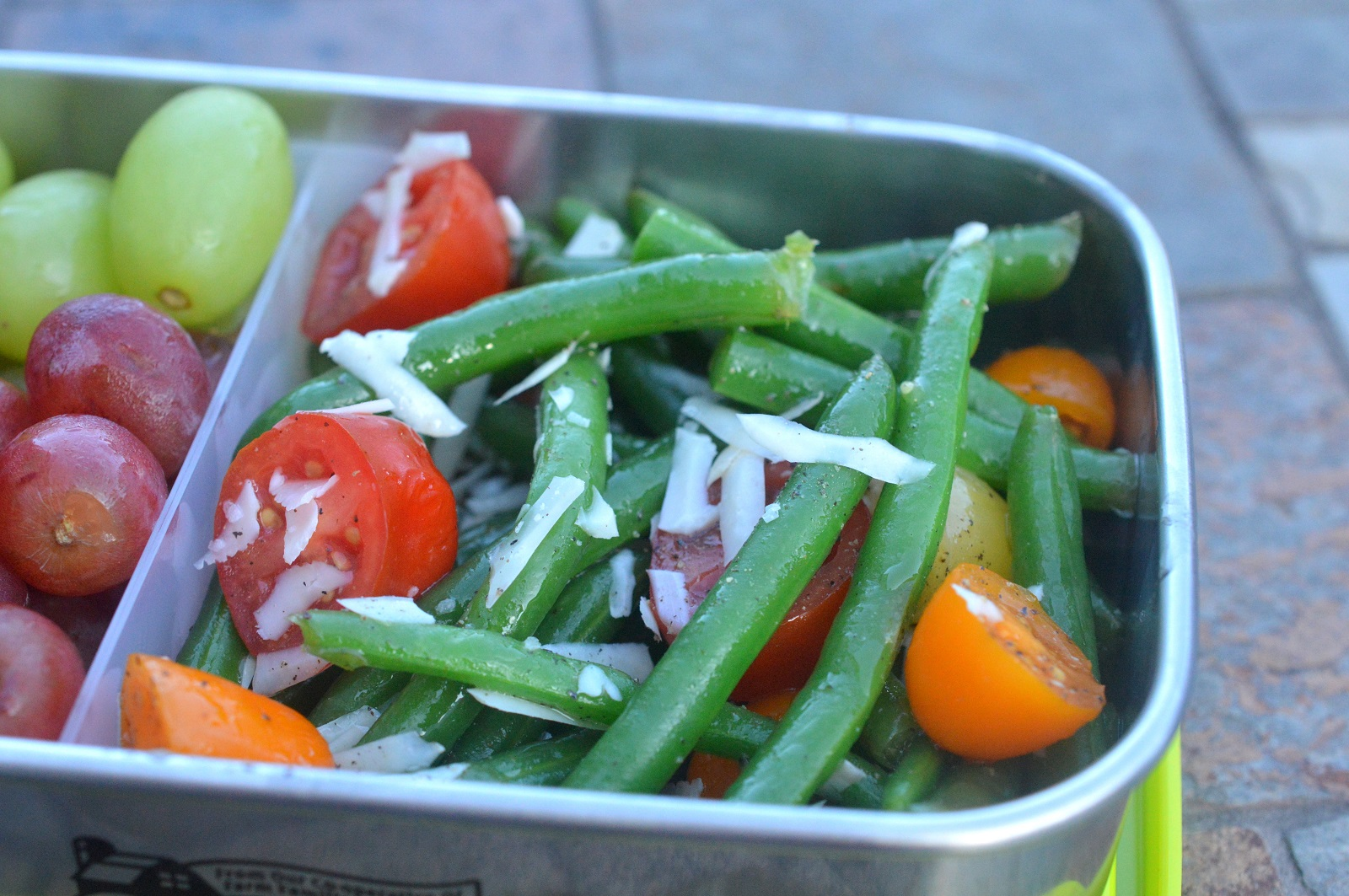 Simple Green Bean Salad with vinaigrette