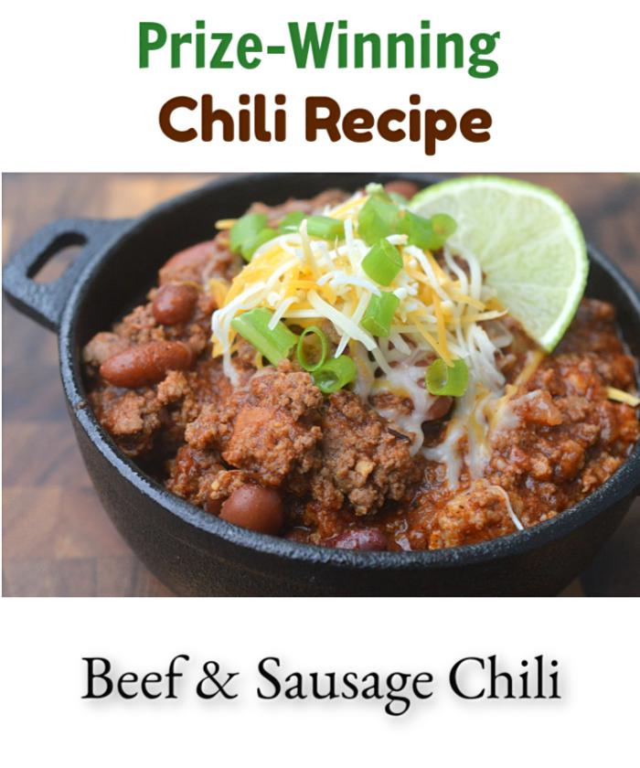 Prize Winning Beef & Sausage Chili Recipe