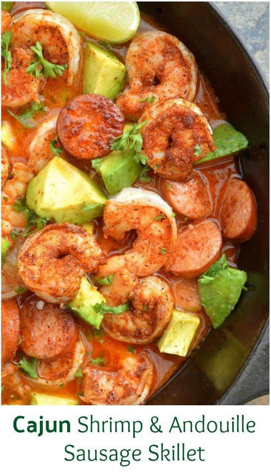 Cajun Shrimp & Andouille Sausage Skillet
