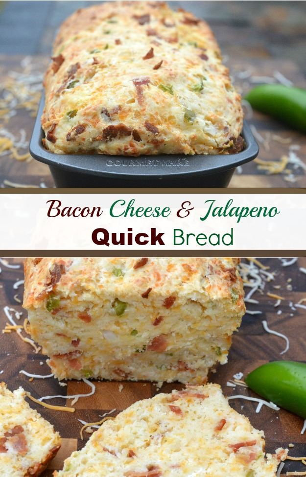 Delicious Easy Bacon Cheese Jalapeno Quick Bread Recipe