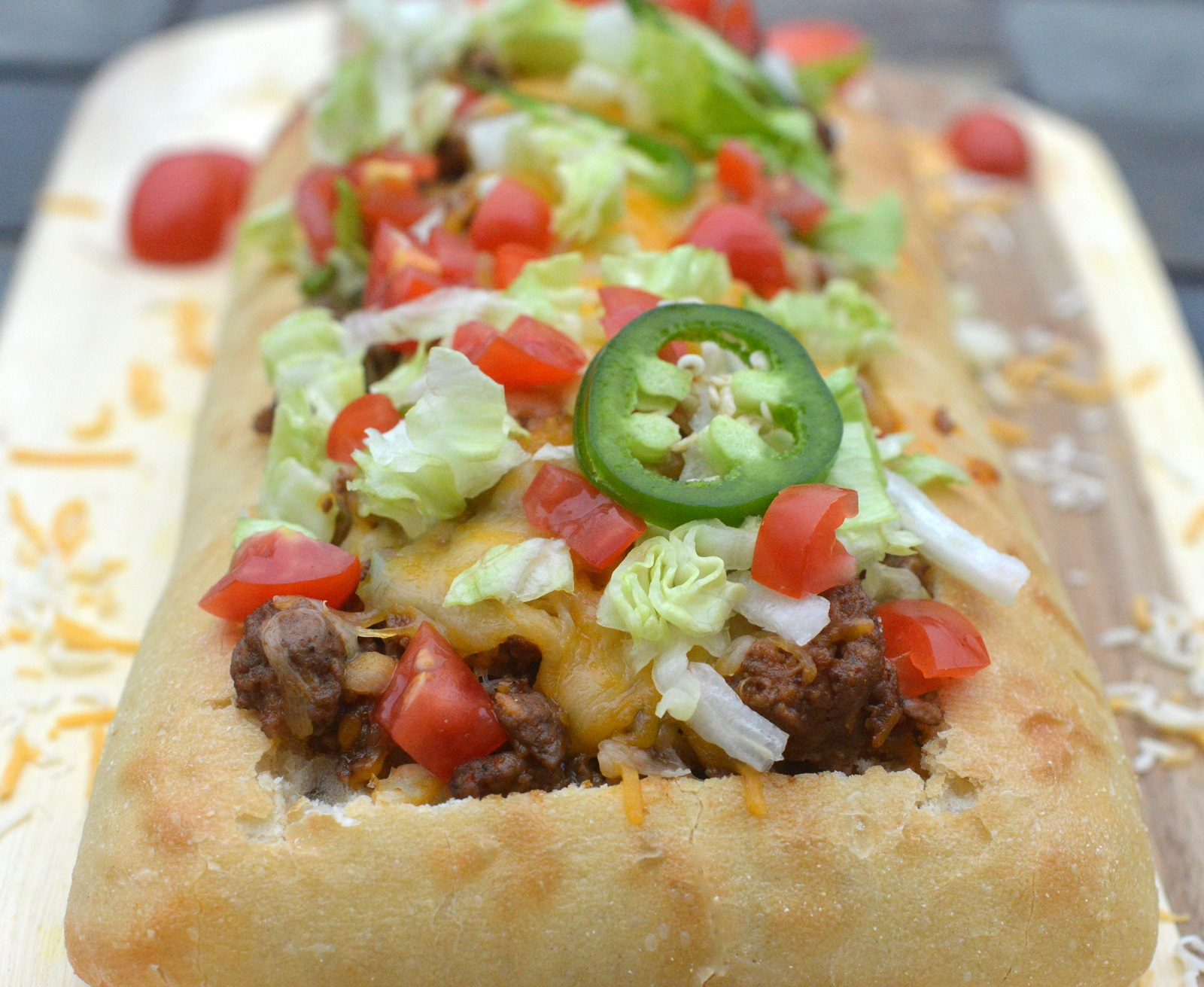 Stuffed Taco Bread