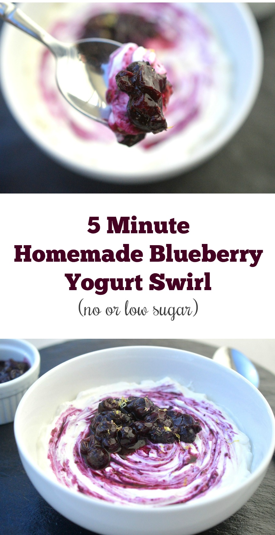 5 Minute Homemade Blueberry Yogurt Swirl