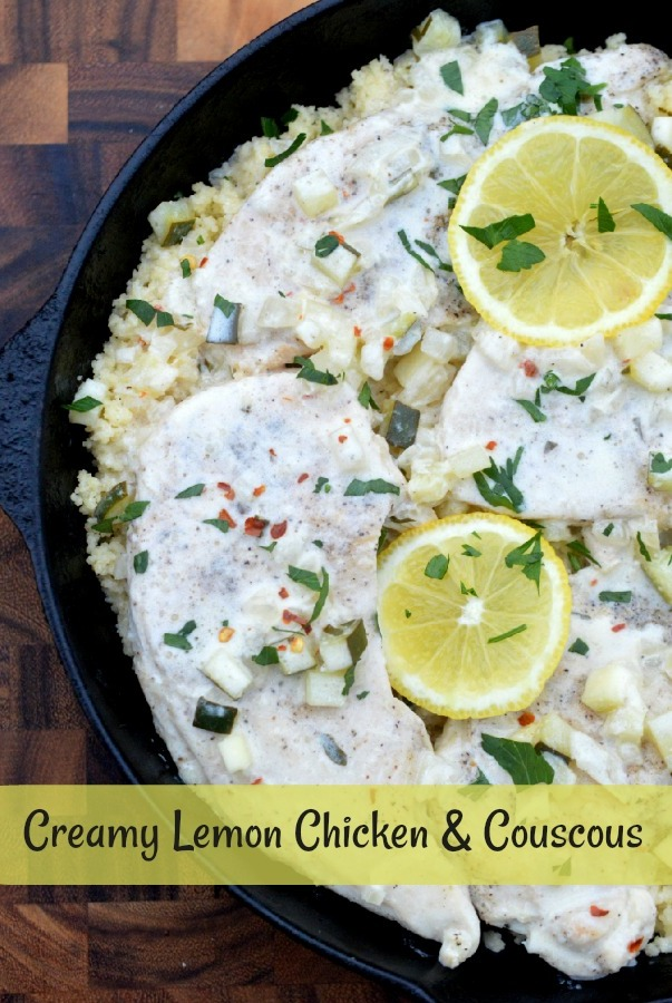 Creamy Lemon Chicken Over Couscous