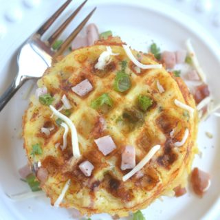 Ham & Cheese Hash Brown Waffles