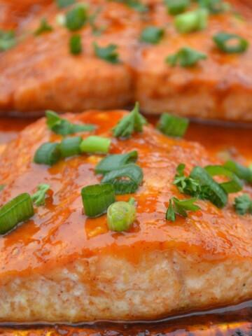 Glazed Salmon In Foil