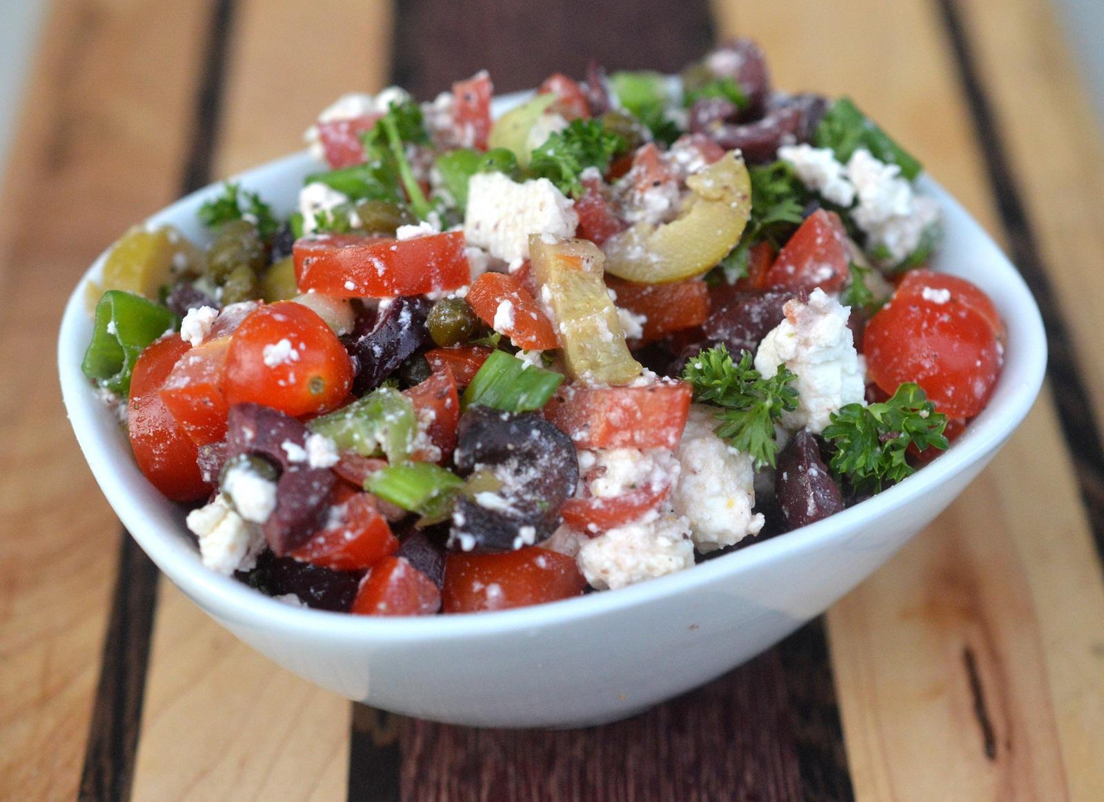 Vibrant fresh Mediterranean Salsa for Burgers