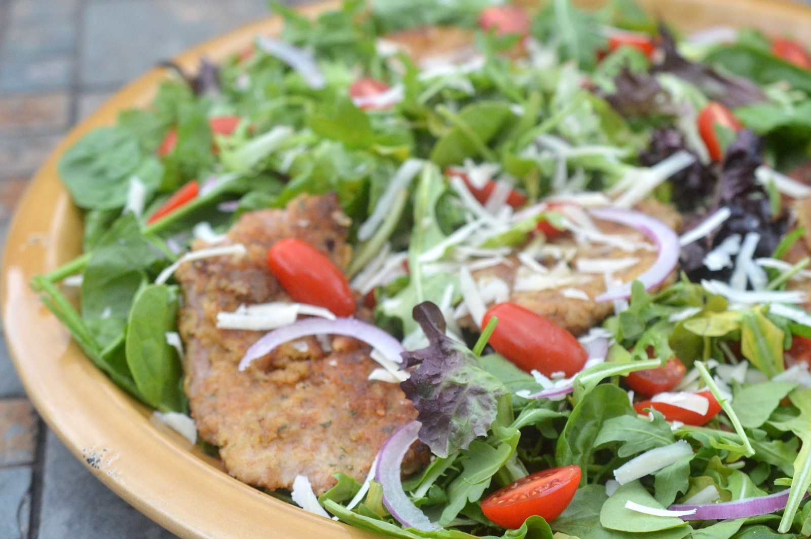 Veal Milanese Salad Recipe
