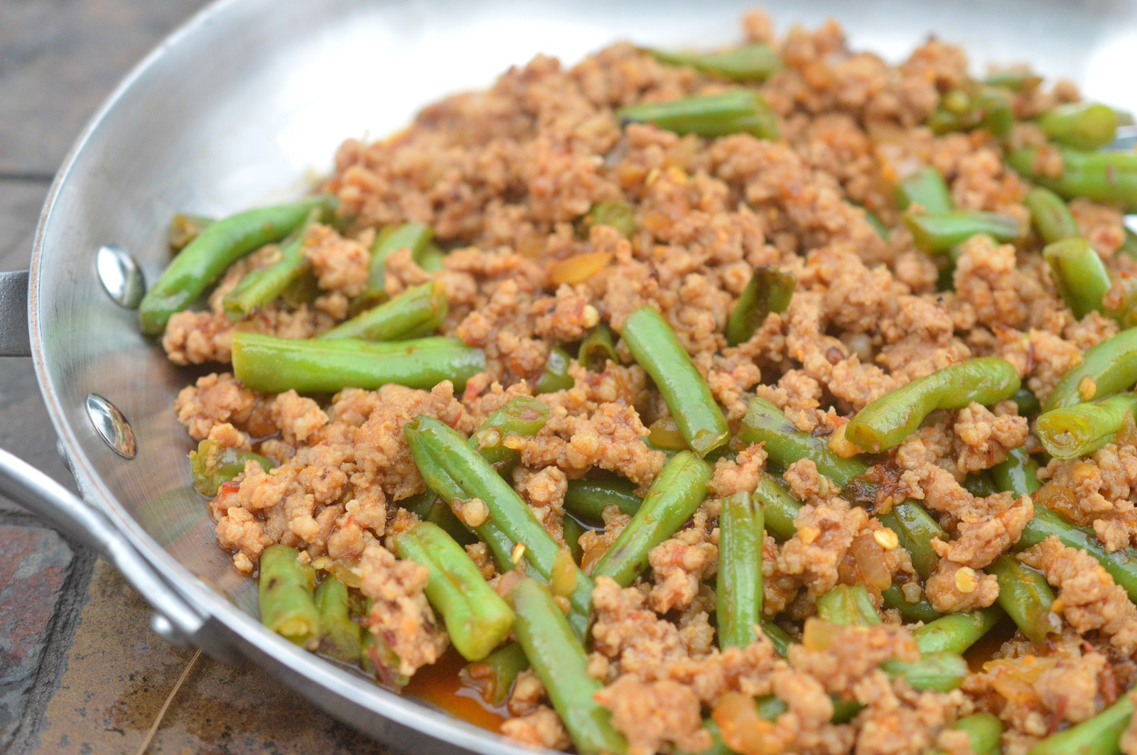 Easy Ground Meat & String Bean Asian Stir Fry