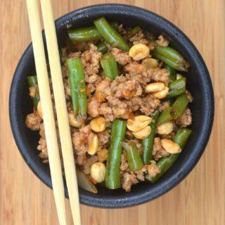 Ground Meat & String Bean Asian Stir Fry