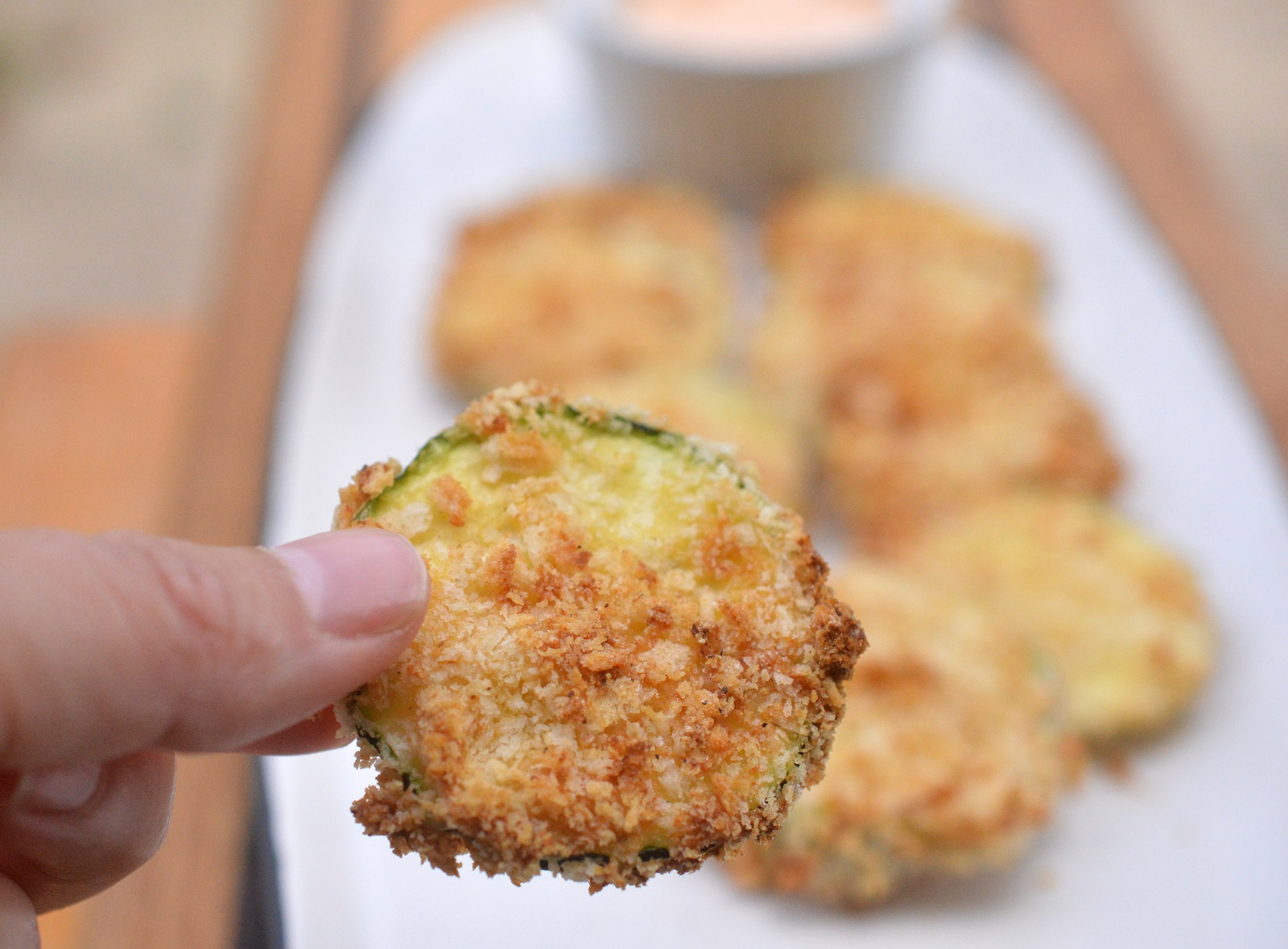 Crispy Air Fryer Zucchini Chips so easy and fast to make