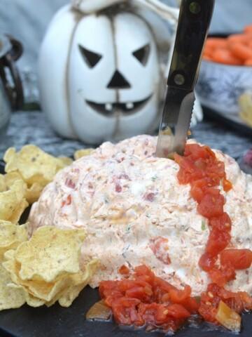 Fun and festive Mexican Halloween Brain Dip recipe