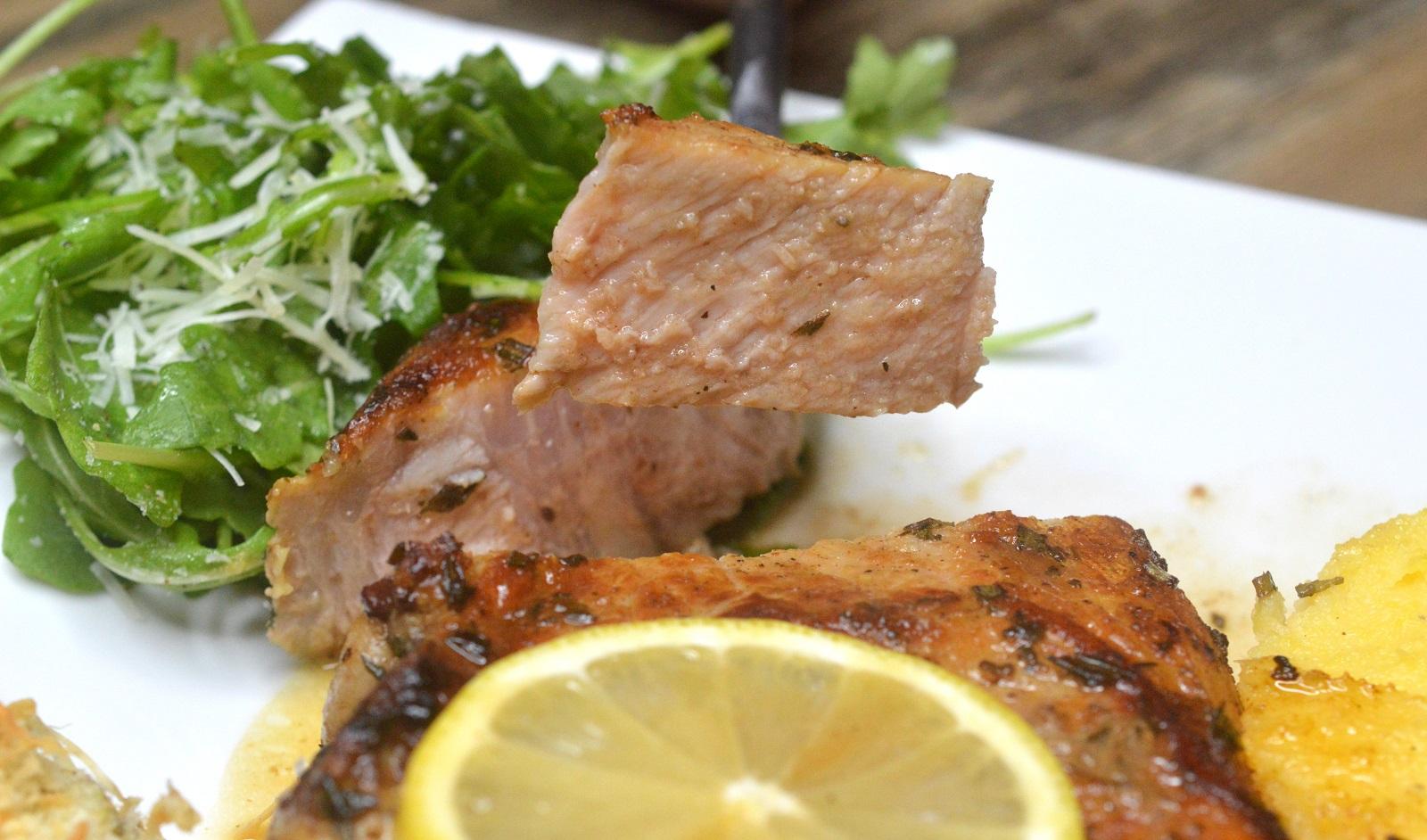 sliced veal chop