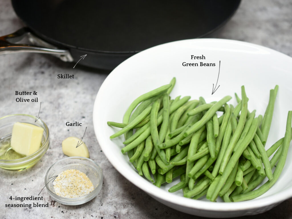 How to make Skillet Green Beans
