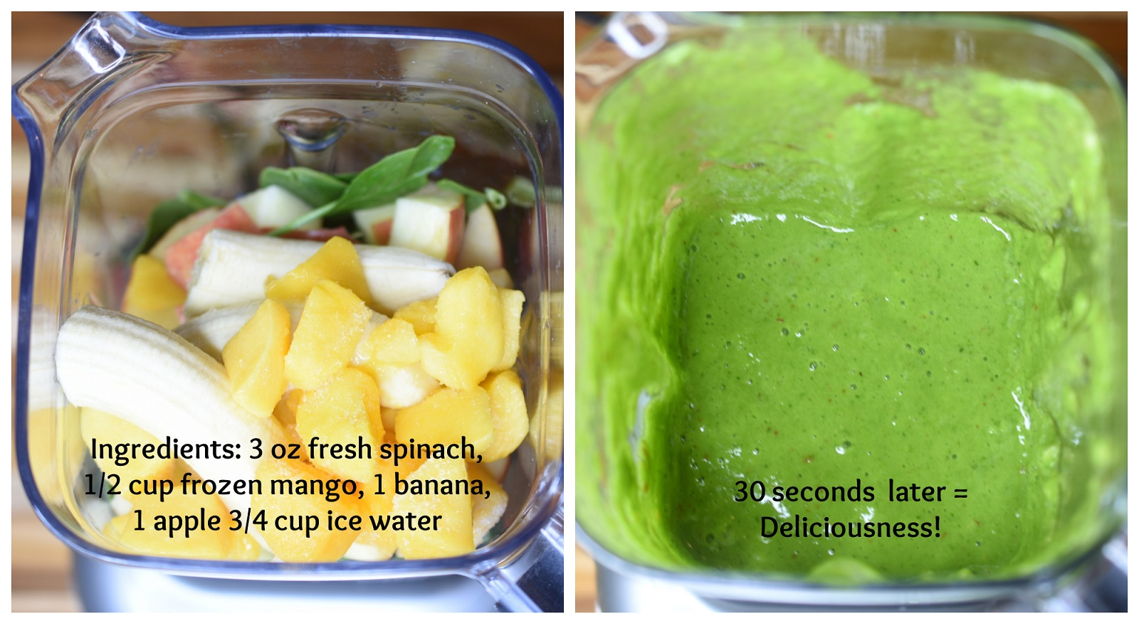 ingredients to make green smoothie