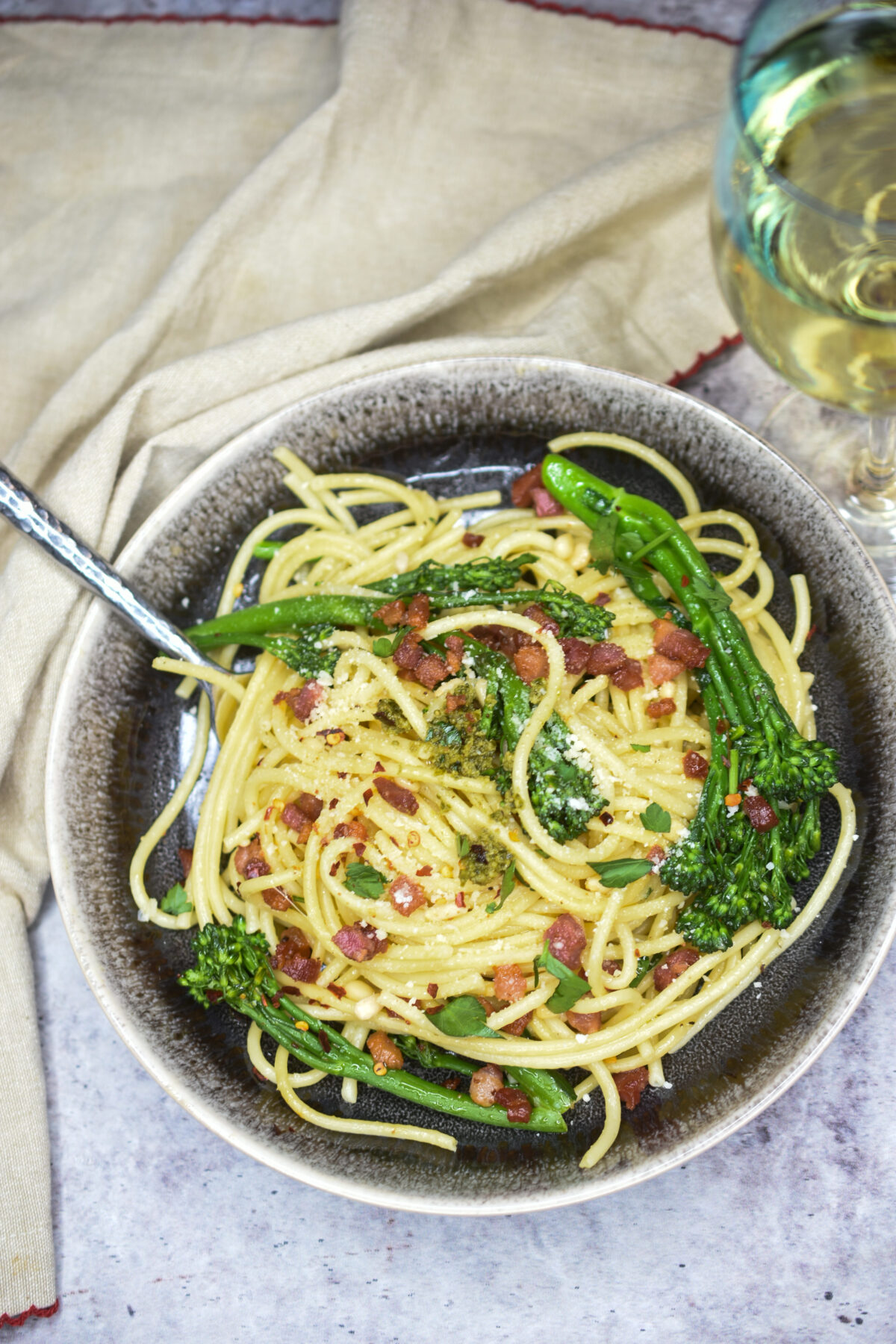 Bucatini with Pancetta & Broccolini