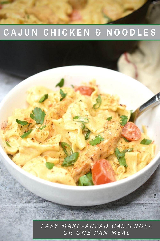 Cajun Chicken Noodle Casserole