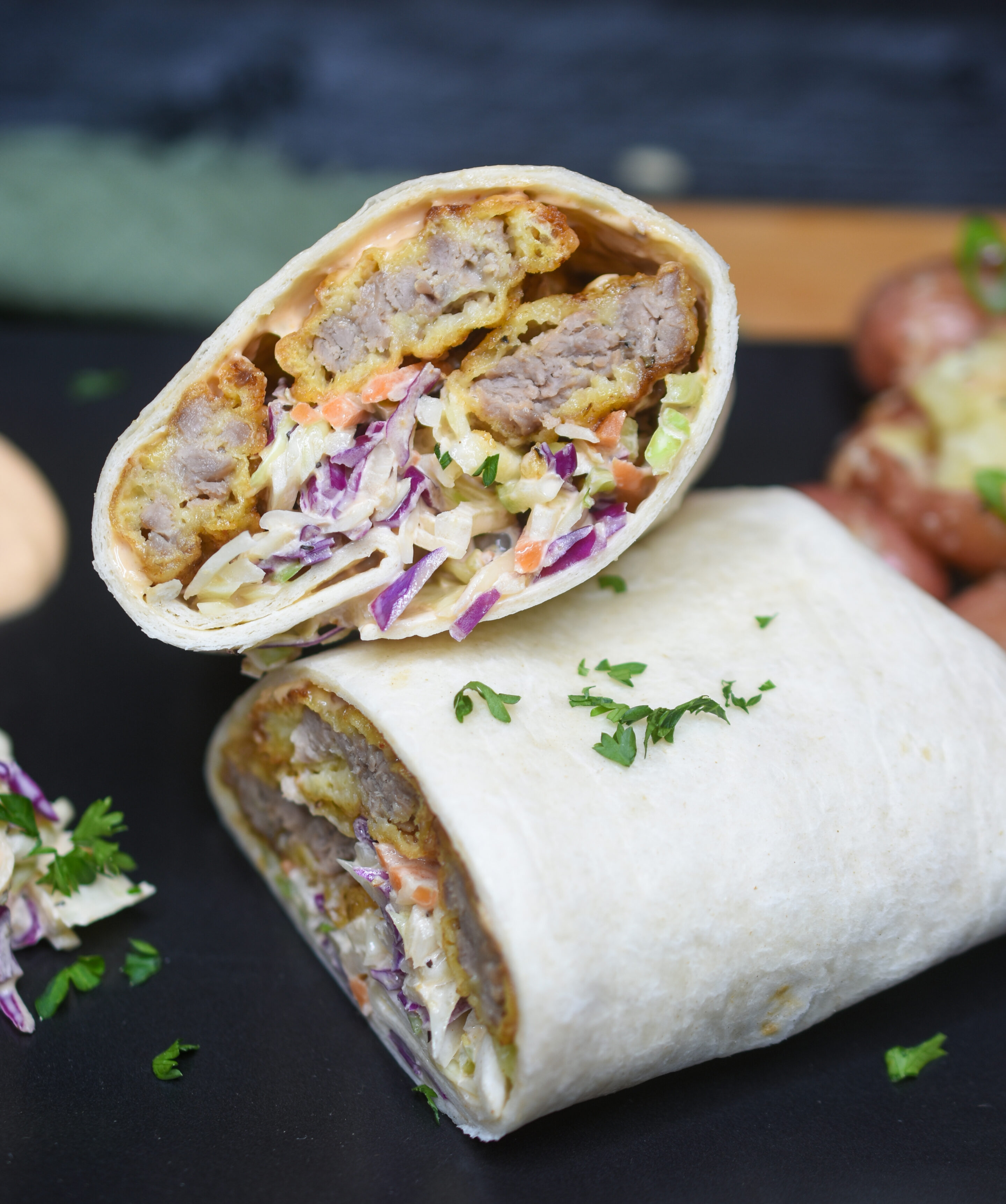 Finger Steaks Wrap with Chipotle Sauce